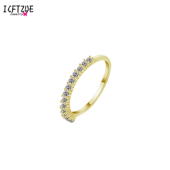 Silver Gold Bague Femme Colour Cool Anel Falange Championship Circle CZ Toe Rings For Women Bridesmaid Gift Trendy Jewelry