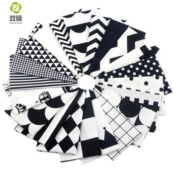 New Black Color Cotton Fabric Telas Patchwork Fabric Bundles Fabric For Sewing Doll Cloth Quilting DIY Crafts 21pcs/lot 20*24CM