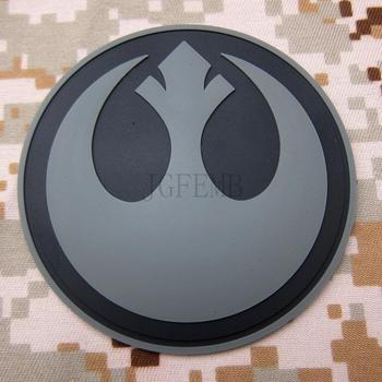 Gri Rebel Alliance Askeri Taktikler 3D PVC patch Rozetler PB1533