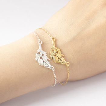 GORGEOUS TALE New Hollow Out Leaf Shape Silver Color Lovely Chain Bracelet friendship Mother and Child Daughter Jewelry Gift