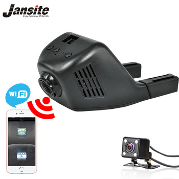 Jansite Araba Dvr Wifi Araç Kamera Registrator Dijital Video Mini Dash kamera Video Kaydedici Kamera Full HD 1080 P Çift Lens Dvr