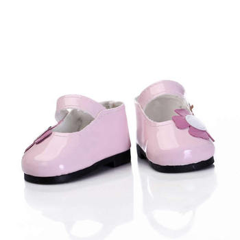 22 Inch Fashion Pink Leatheroid Doll Shoes Fit For 20-23 Inch Baby Dolls Kids Birthday Xmas Gift